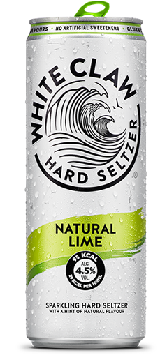 White Claw sparkling hard seltzer in Natural Lime flavour